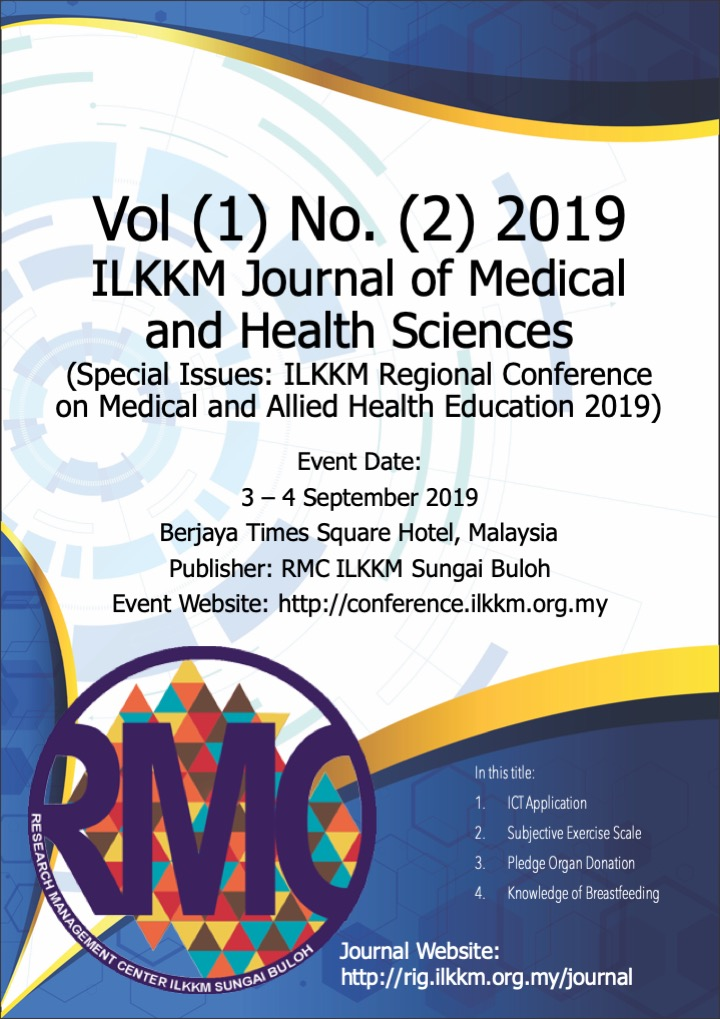 ILKKM Regional Conference on Medical and Allied Health Education 2019
