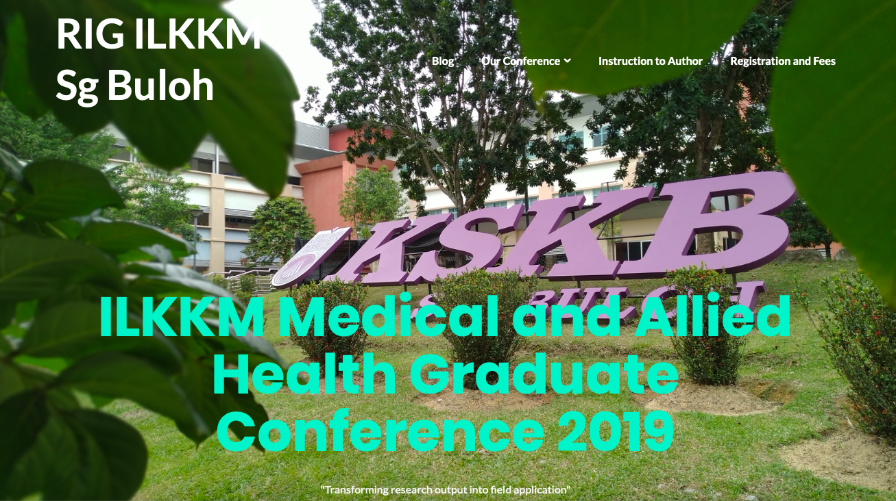 ILKKM Medical and Allied Health Graduate Conference 2019
