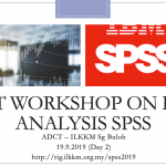 Analysis Data Using SPSS For Beginners Video Instruction ADCT 2019